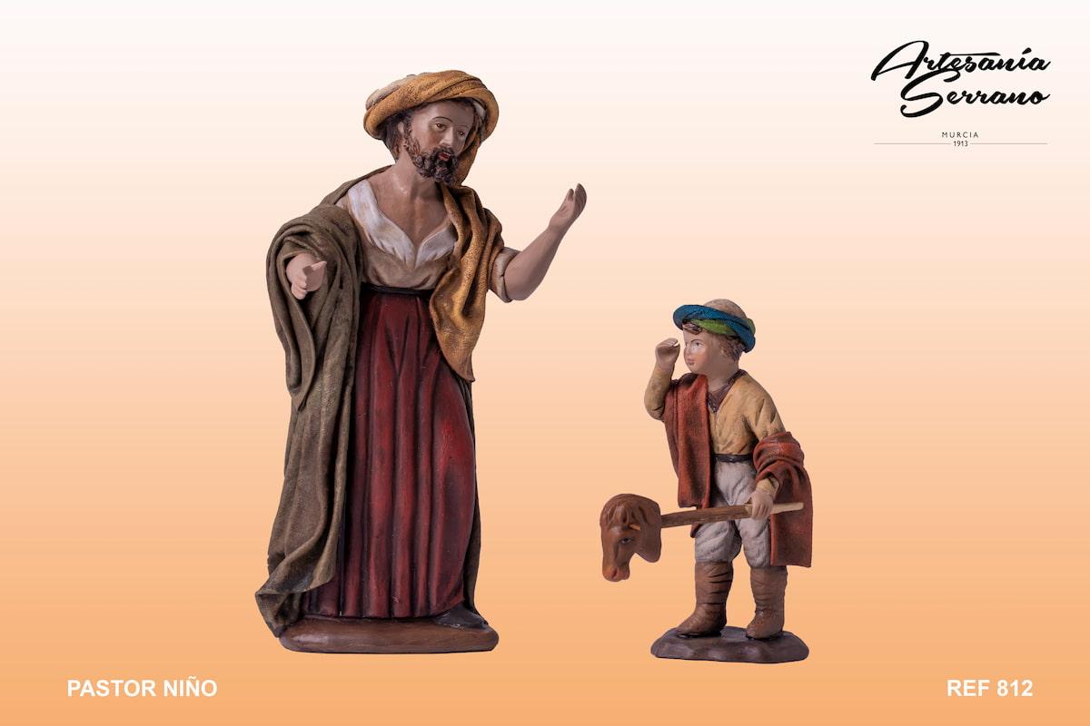 Pastor con niño 812